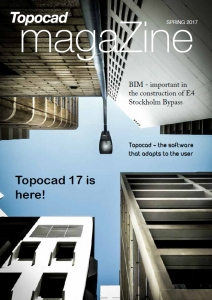 Read about E4 Stockholm Bypass, Topocad 17 and more...